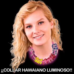 COLLARES HAWAIANOS LUMINOSOS FLUORESCENTES
