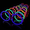 Gafas luminosas fluorescentes hippies redondas