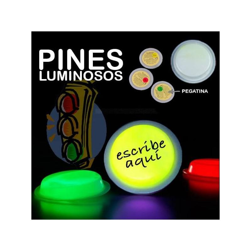 Pines pin círculos luminosos badge