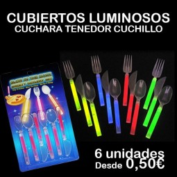 CUBIERTOS LUMINOSOS