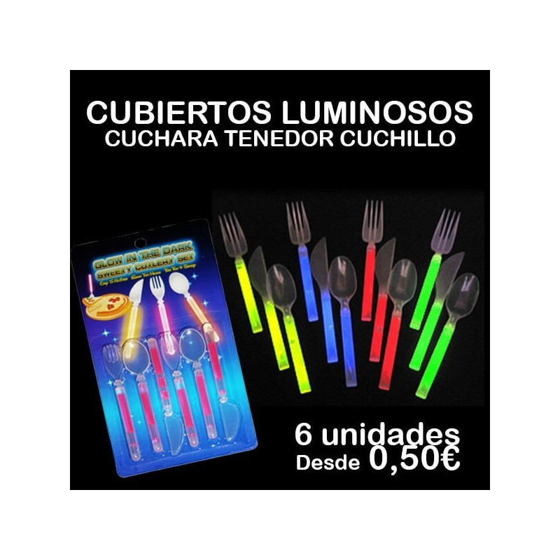 cubiertos fluorescentes luminosos