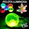 Pelota saltarina luminosa fluorescente