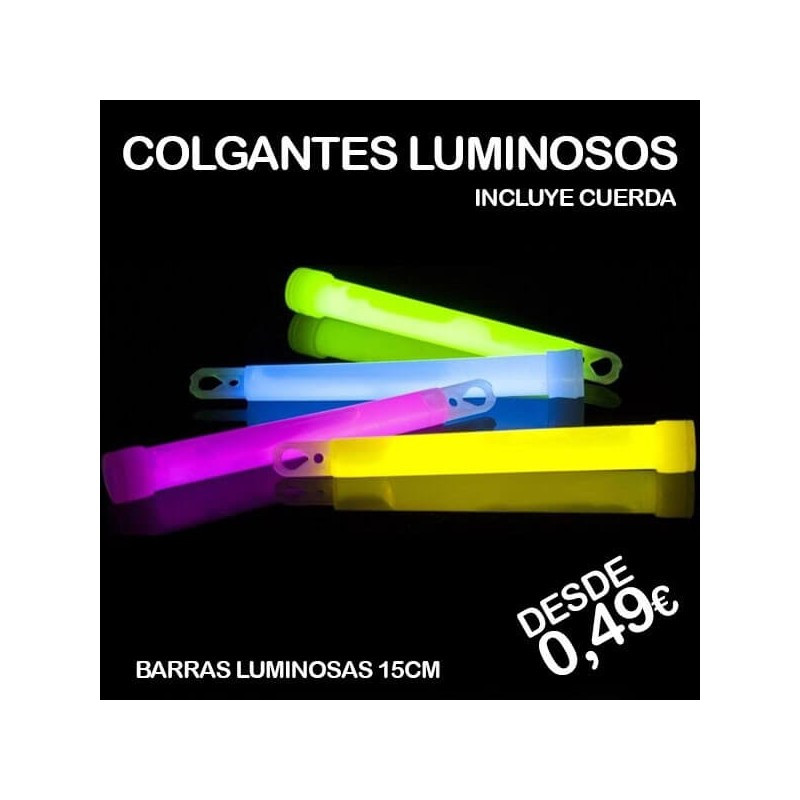 Colgantes luminosos fluorescentes