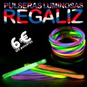 pulseras luminosas regaliz fluorescentes