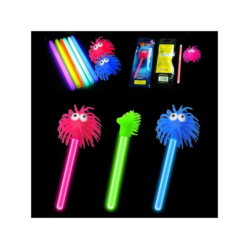 Pompones y Caballitos fluorescentes