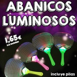 Abanico luminoso LED