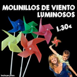 Molinos de viento luminosos