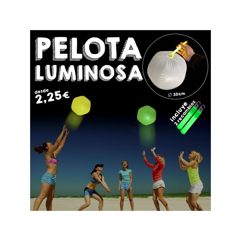 Pelota de playa luminosa