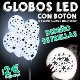 Globos LED Estrellas con botón