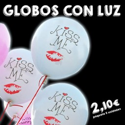 Globos luminosos LED Kiss Me