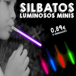 Silbatos luminosos mini