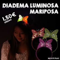 Diadema LED mariposa