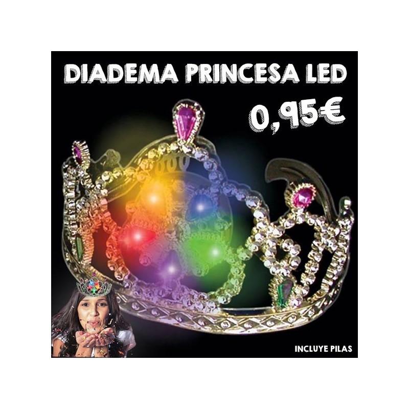 Corona luminosa con luz LED