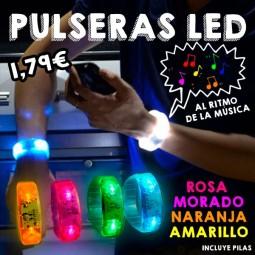 Pulseras LED sonido