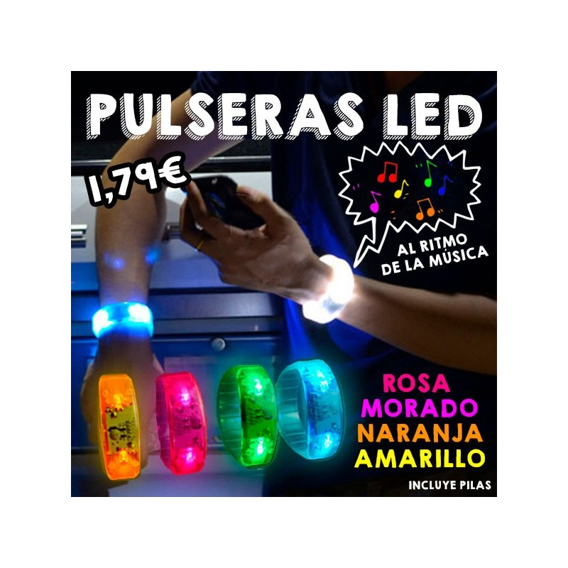 Pulsera LED sonido