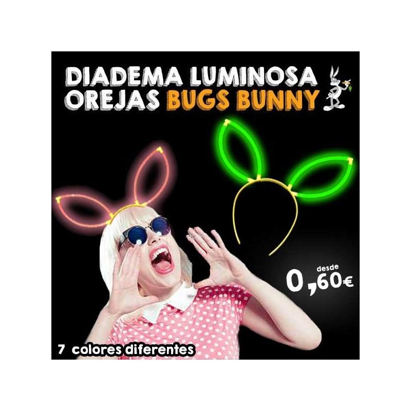 Diademas fluorescentes Orejas Bugs Bunny