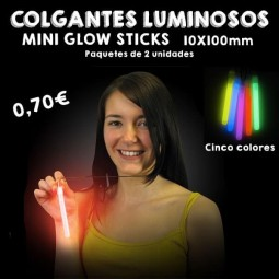 Colgantes Luminosos Mini Glow Stick 10x100mm