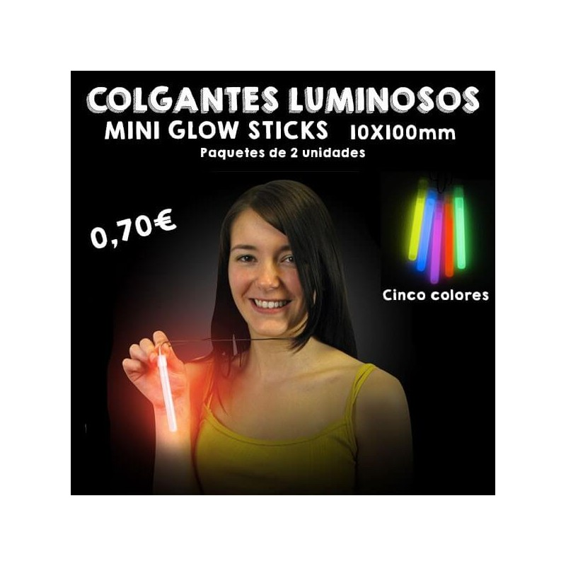 Colgantes Luminosos Glow Stick 10x100mm