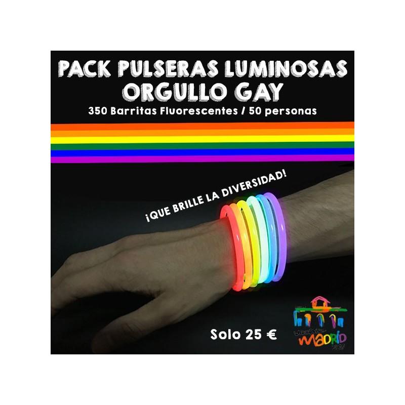 Pack Pulseras Luminosas Orgullo Gay