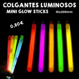 Colgantes Luminosos Mini Glow Stick 10x200mm