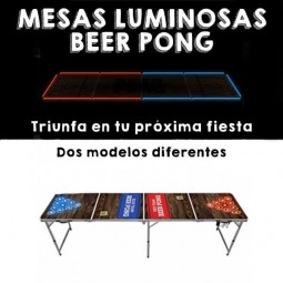 Mesas Luminosas Beer Pong