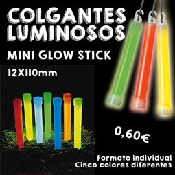Colgantes Luminosos Mini Glow Stick 12x110mm