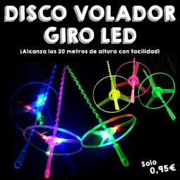Disco Volador Giro LED