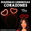 Diademas Fluorescentes Corazones