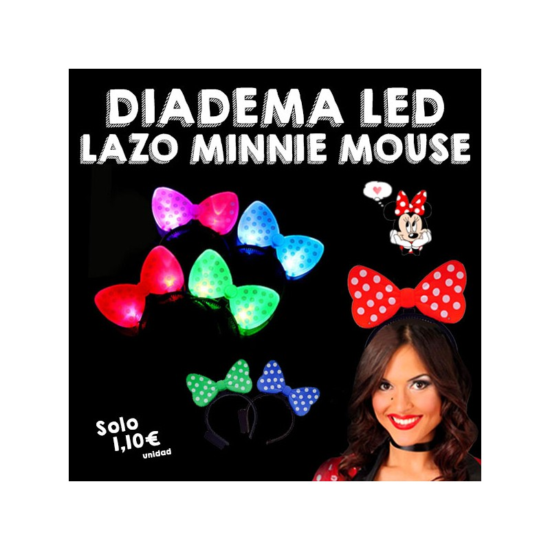 Diademas Luminosas Lazo Minnie Mouse LED