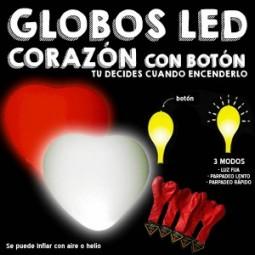 GLOBOS LED CORAZÓN